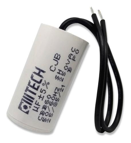 3 unidades capacitor partida 4,5uf x 250vac fio cilíndrico