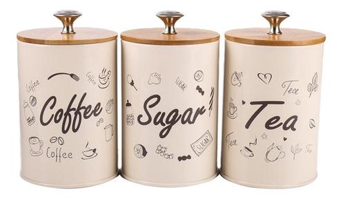 3 unidades envase de metal recipiente de té de latas