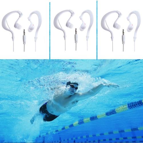 3 unidades fone de ouvido prova dagua natação piscina cód104