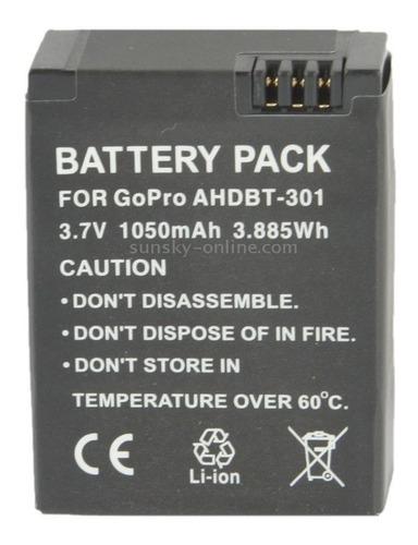 3 unidades kit baterias p/ gopro hero3 / gopro hero 3+ ahdbt
