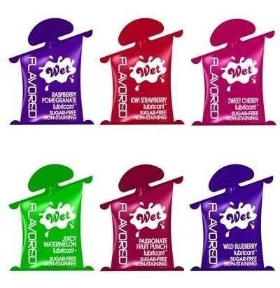 3 unidades lubricantes en oferta wet con sabor flavored