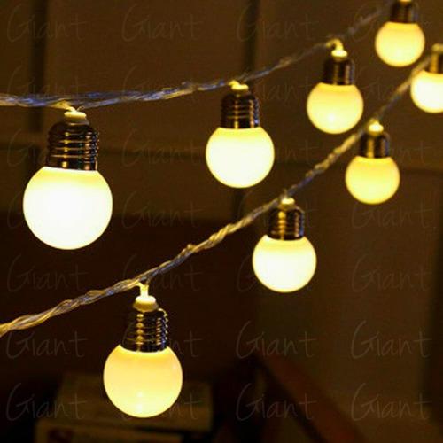 3 varal lumisoso decorativo 12 leds à pilha + fonte 3m natal