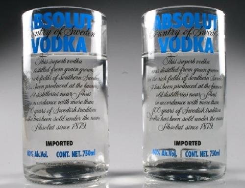 3 vasos méxico vidrio ecológico y reciclables absolut