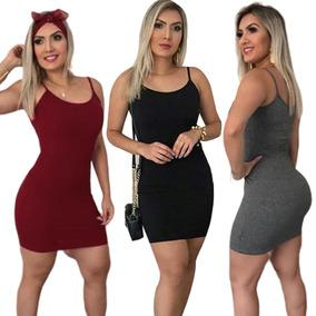 5bde8e685 Vestido Curto Simples Barato Feminino Verão Casual Malha - Vestidos com o  Melhores Preços no Mercado Livre Brasil