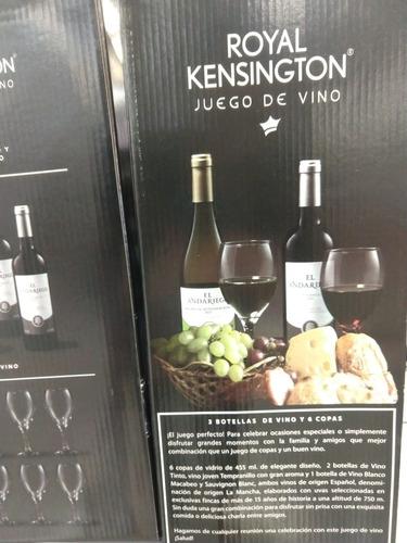 3 vinos y 6 copas