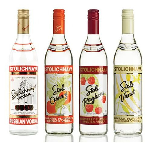 3 vodkas russa stolichnaya sabores - 1 litro - 100% original