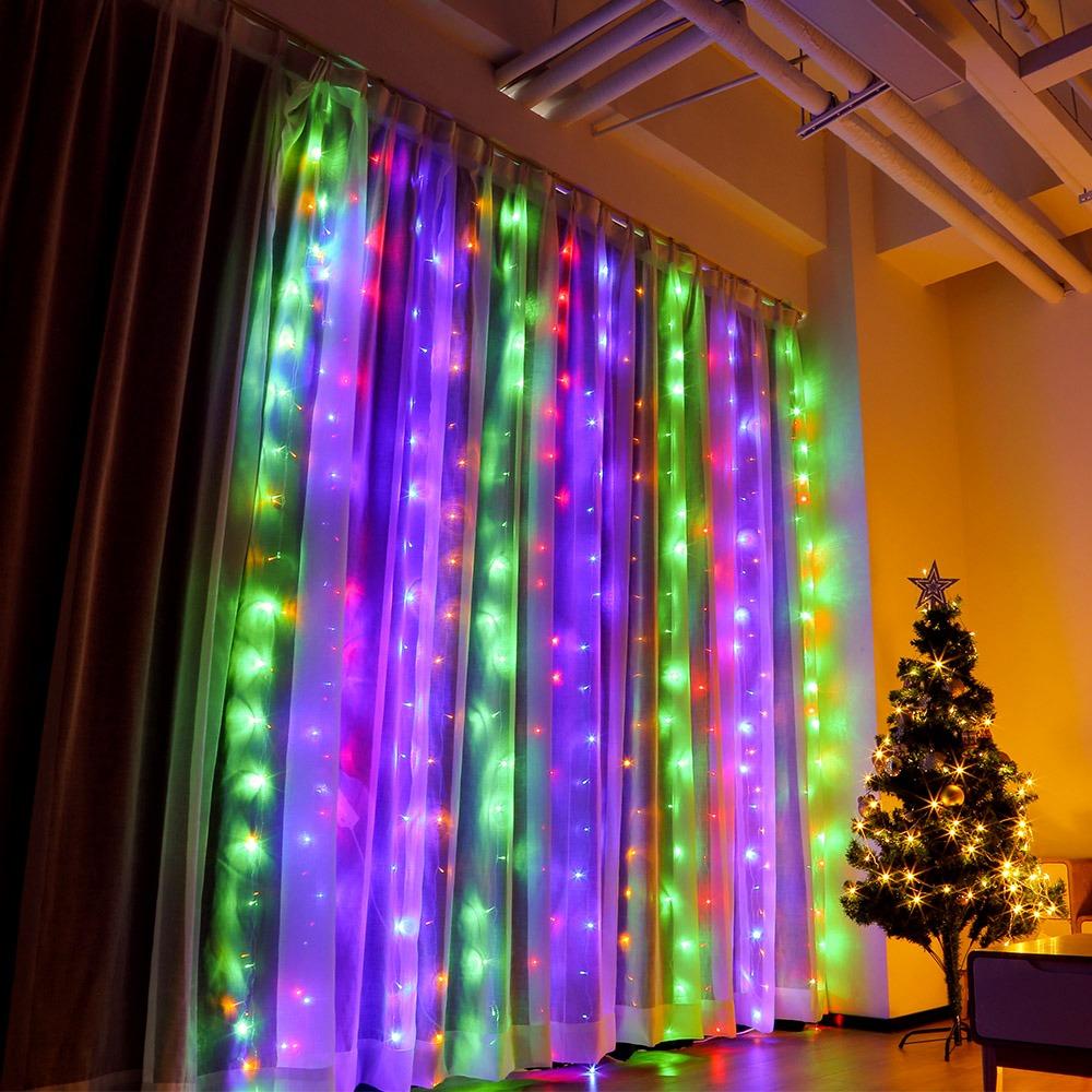 d6e9609699d 3 x 3m 304 leds cortina ventana luz boda navidad decoración. Cargando zoom.