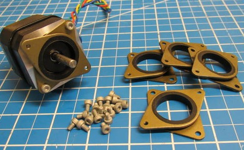 3 x acople absorbe vibraciones nema 17,23 motor paso a paso