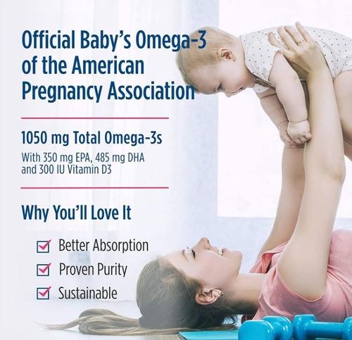 3 x baby's dha com vitamina d3 - nordic naturals 60ml.