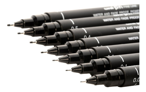 3 x caneta nankin uni pin uni ball mitsubishi 0.1 0.4 0.8