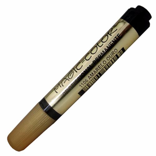 3 x marcador magic color sér. ouro 1106 amarelo ouro 1 ponta