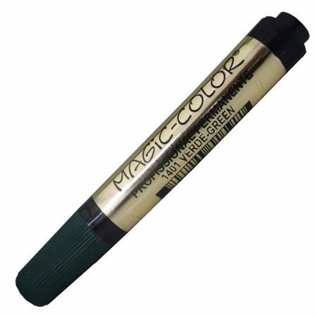3 x marcador magic color série ouro 1401 verde ponta única