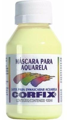 3 x mascara liquida para aquarela - látex corfix *frete+bara