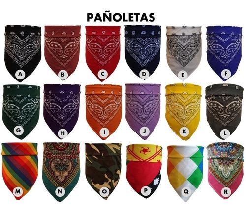 3 x pañoletas bandana pañuelo motoquero 14 diseños
