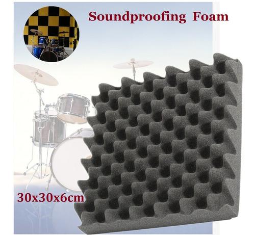 30* 30* 6 cm isolamento acústico espuma egg crate estúdio es