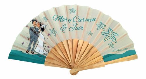 30 abanicos personalizados - bodas, bautizos, preciosos!