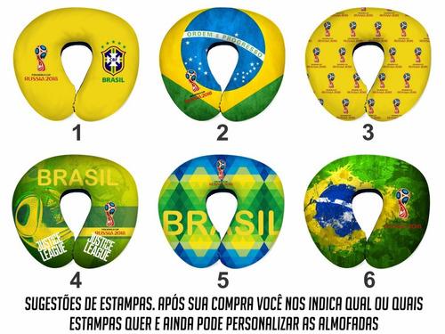 30 almofadas de pescoço brasil copa do mundo 2018 - atacado