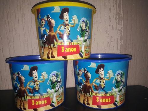 30 baldes pipoca toystory