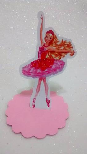 30 barbie sapatilhas magicas bailarina latinha 3d e escalope