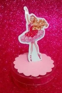 30 barbie sapatilhas magicas  latinha 3d c/  escalope
