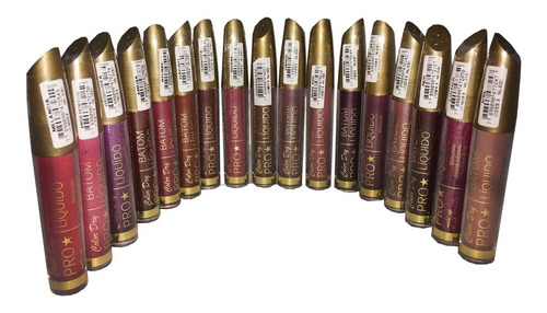 30 batom liquido matte color dry pro  mega promoção 30 unid.