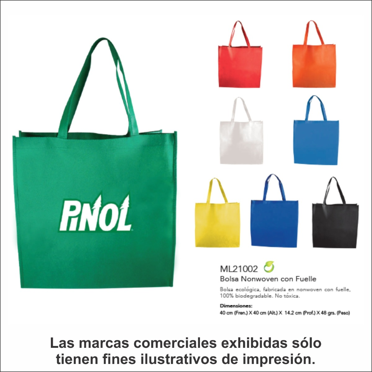 059a15dda 30 Bolsas Ecológicas Fuelle, C/tu Logo Impreso - $ 1,061.00 en ...