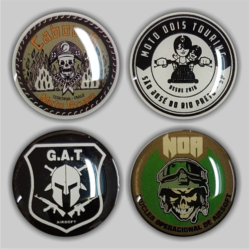 30 botons resinados 25mm personalizados botton pins broche