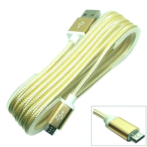 30 cabos carga micro usb v8 android reforçado nylon promoção