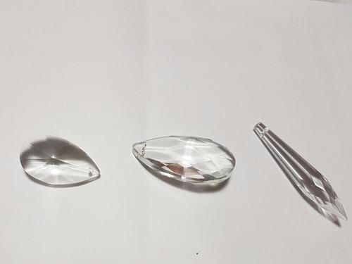 30 caireles  de cristal a eleccion deco cairel