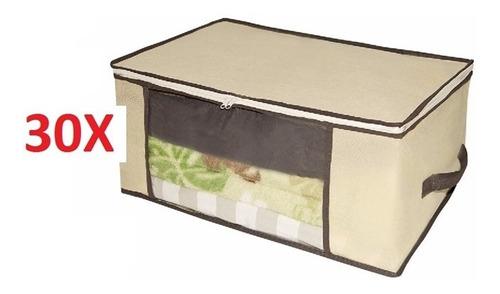 30 caixa organizador multiuso para guarda roupa closet ziper