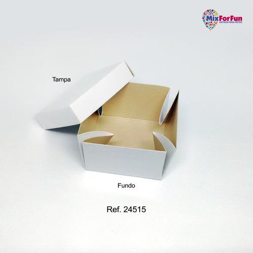 30 caixas lembrancinha urso azul rosa com aplique 7x7x5cm