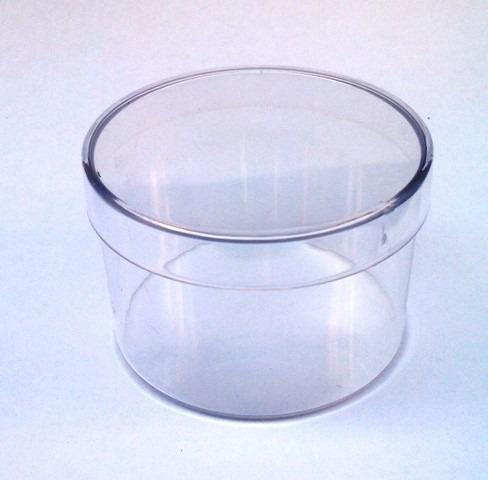 30 caixinhas acrílico redonda 6x4 + 30 tubetes de 13 cm