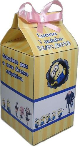 30 caixinhas de leite personalizadas / 15x7x7 + todos temas