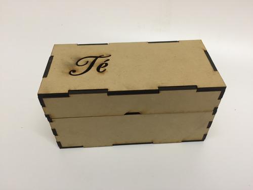 30 caja te 14x7x7,5 ideal souvenir fibrofacil personalizadas
