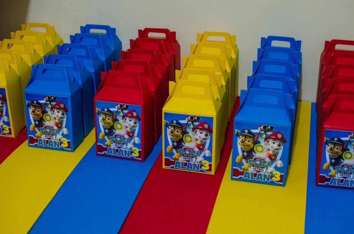 30 cajas dulces fiestas infantiles personalizas paw patrol for Cajas personalizadas con fotos