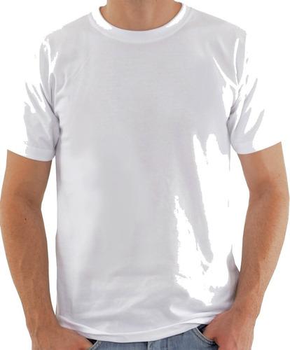 30 camisetas brancas 100% algodão fio 24 promocional atacado