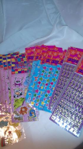 30 cartelas de adesivos variados