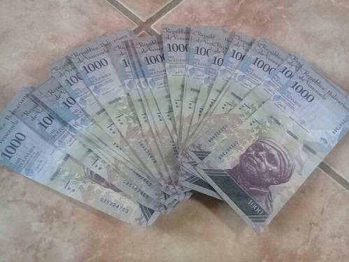 30 cedulas 1000 bolivares fe sequenciais