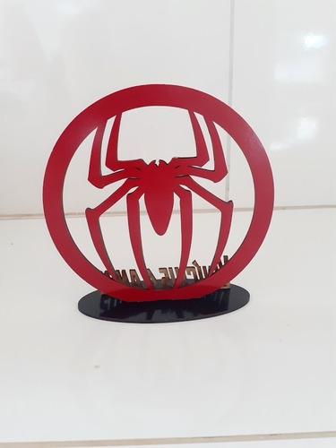 30 centro de mesa homem aranha mdf