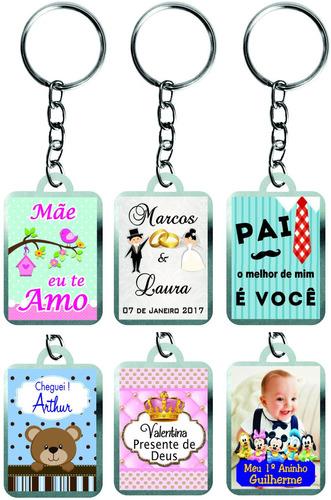 30 chaveiros metal personalizado dia das mães, dia dos pais