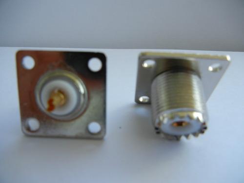 30 conectores uhf fêmea base quadrada teflon - 30 unidades