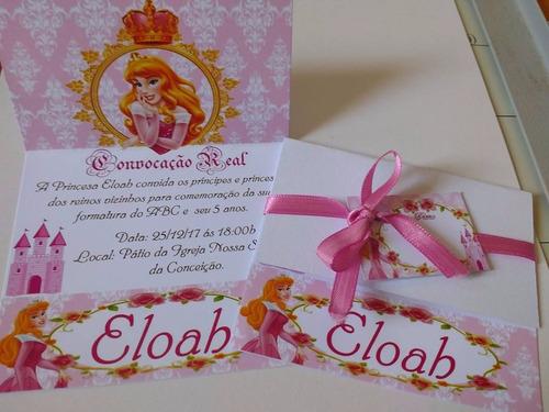 30  convite aniversario personalizado com fita e tag
