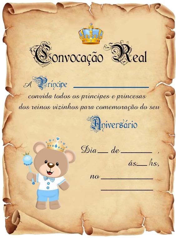 30 Convite Pergaminho Ursinho Príncipe R 3600 Em Mercado Livre