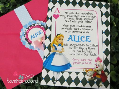30 convites com envelope tradicional + fita personalizad