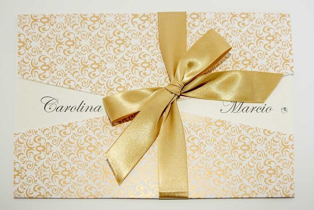 30 Convites De Casamento Dourado Frete Gratis R 156 54 Em