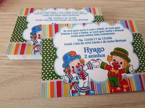 30 convites personalizados