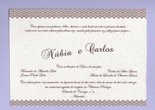 30 Convites Rústicos Para Casamento R 6000 Em Mercado Livre