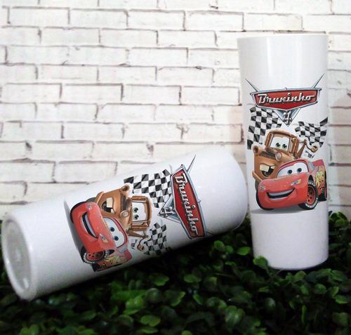 30 copos long drink carros disney, lembrancinhas