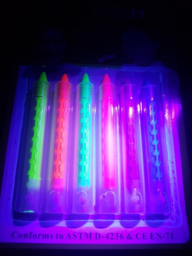 30 crayones fluorescentes luminosos maquillaje pintura neon