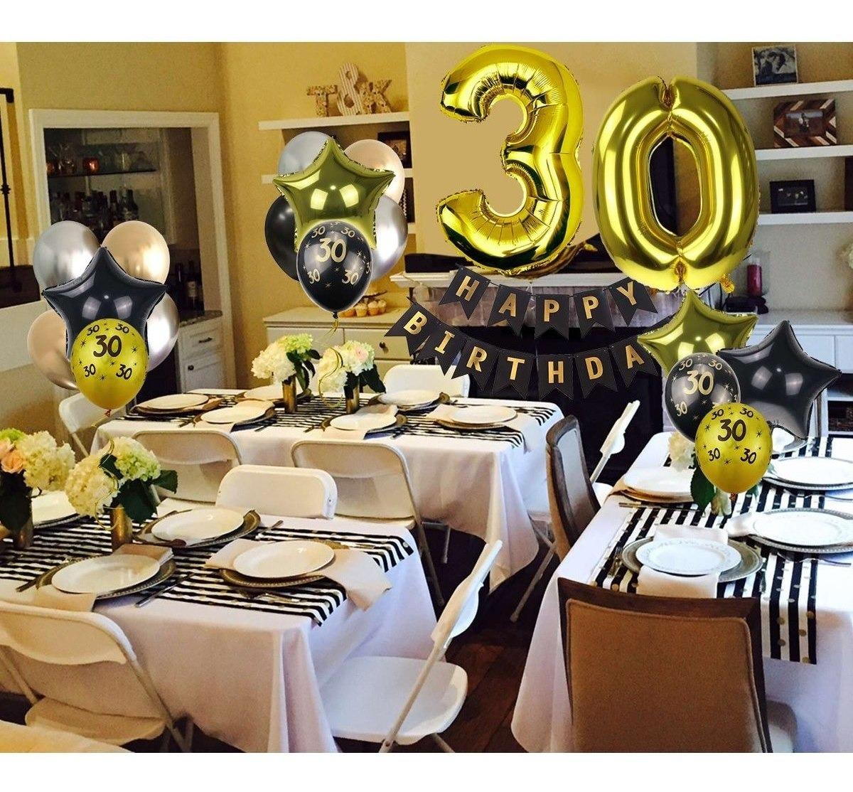 30 Cumpleaños Decoraciones Para Hombres Suministros Para Fi